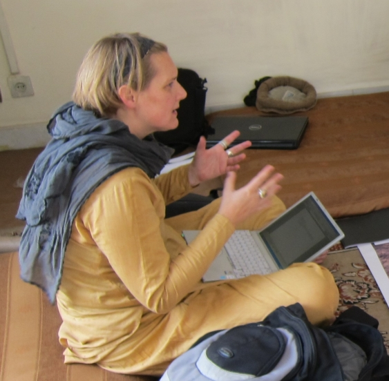 Dr Schmeidl at work in Afghanistan