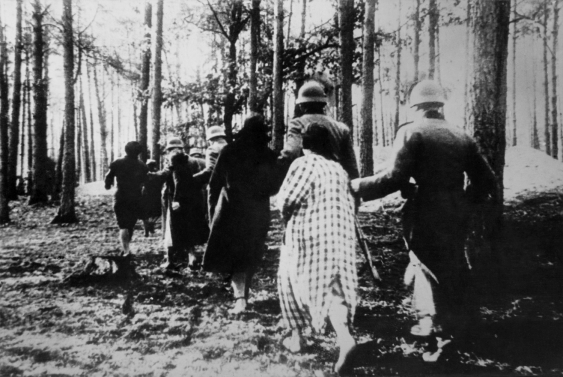 Women led away by Nazis