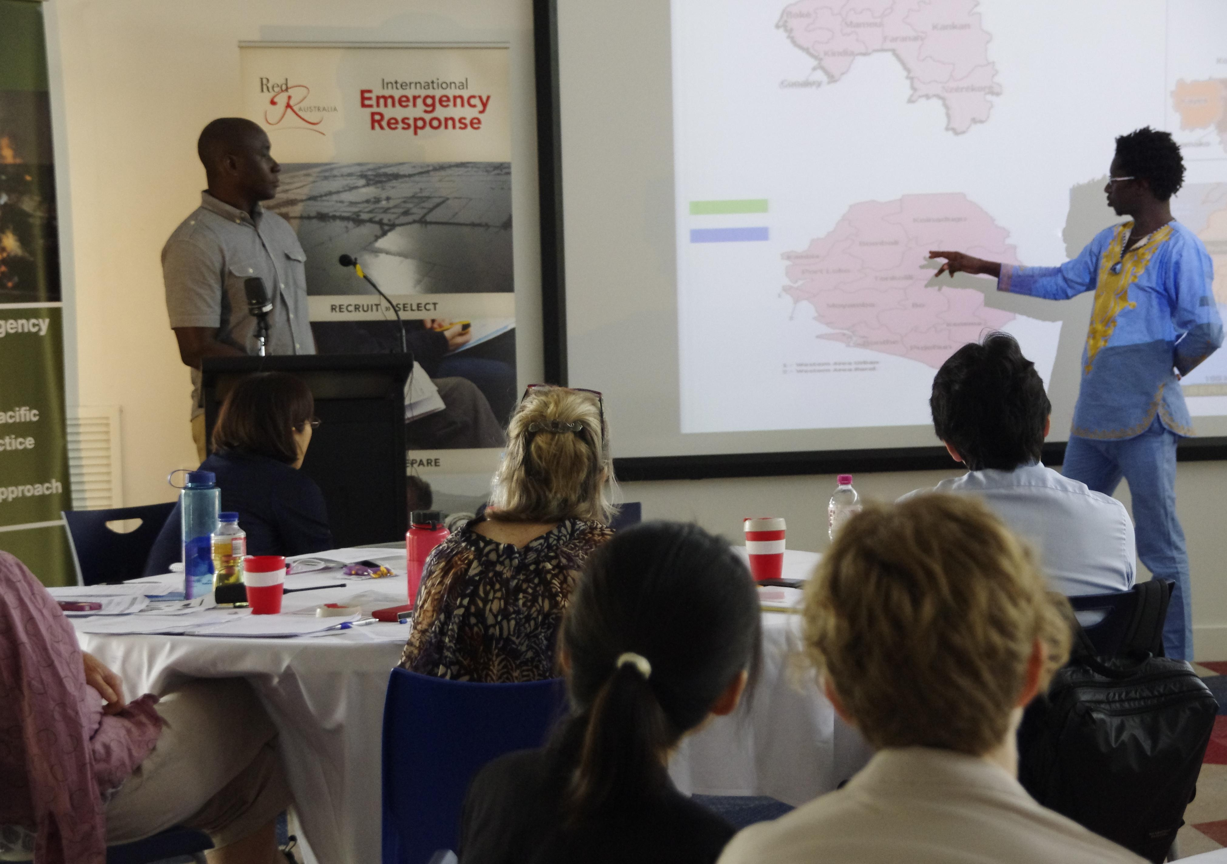 Ebola training in Darwin with Walton Beckley and Mohammed Alpha Jalloh