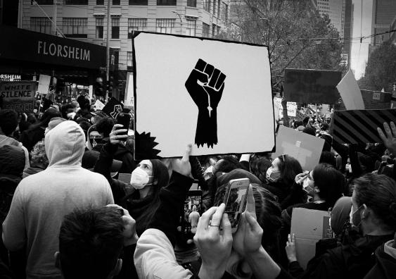 Black Lives Matter protesters in Australia