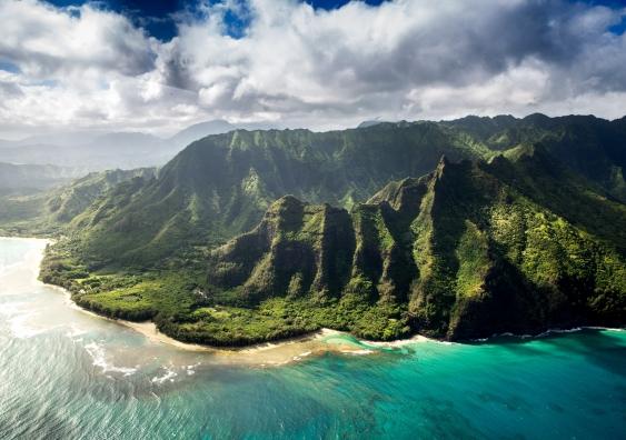 The coastline in Hawaii