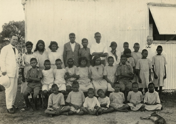 Stolen Generation children at the Kahlin Compound in Darwin, Northern Territory, Australia in 1921.