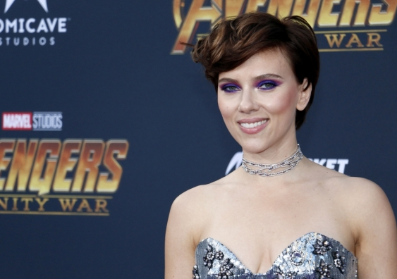 Scarlett Johansson at the premiere of Disney and Marvel's 'Avengers: Infinity War' held at the El Capitan Theatre in Hollywood, USA on April 23, 2018.