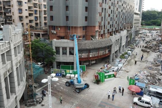 construction in the zen street area
