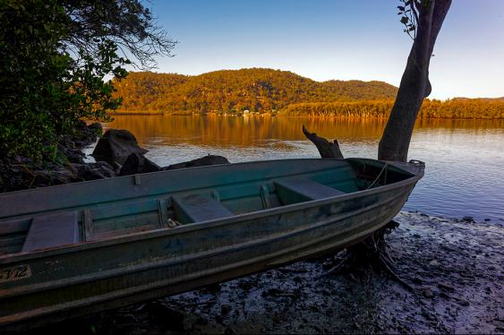 A boat on the river Hawkesbury/Dyarubbin