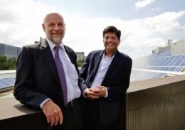 Richard Corkish with Minister Goyal