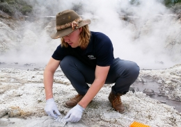 Luke Steller in Rotorua, New Zealand