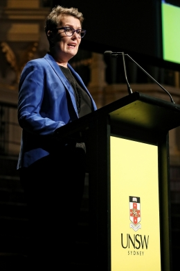 Louise Chappell speaks at Julia Gillard event