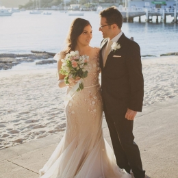 Wedding photo of Nas Campanella with her husband