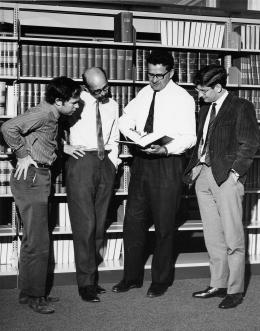 Staff members of the Faculty of Law - Garth Nettheim, Tony Blackshield, Hal Wootten, Richard Chisholm c. 1970s