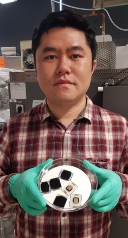 Study co-author Dr Lei Adrian Shi's from UNSW Engineering's School of Photovoltaic and Renewable Energy Engineering