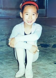Anna Wang as a young ballet dancer