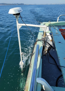 Using the multibeam echosounder during the artificial reef survey