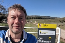 Andy Baker at the UNSW Connected Waters Initiative in Wellington NSW.
