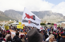 Protesters in Cape Town