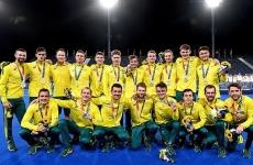 Australian Kookaburras team with their silver medals in Tokyo
