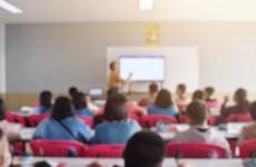school kids learning in a classroom