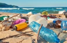 Plastic rubbish on the beach