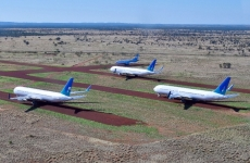 Aircraft in storage in Alice Springs