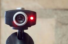 Webcam light turned on