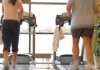 Exercise treadmill couple
