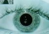 P8700124 Computer screen image of an eye iris bein SPL 1