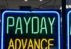 Payday advance sign inside