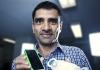 Vijay Sivaraman with body wearable ECG monitoring device 1