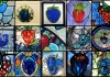 ai generated designs of stained glass windows