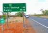 Alice Springs road sign