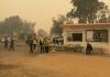bushfire evacuees shrouded in thick haze