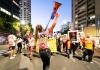 Vanessa Turnbull-Roberts leads march