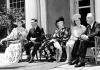 Eleanor Roosevelt with King George VI, Sarah Delano Roosevelt, Queen Elizabeth and Franklin Roosevelt