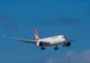 Qantas plane in flight