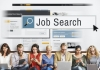 people looking for jobs on their devices