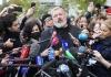 Journalists surround Dmitry Muratov, a russian journalist