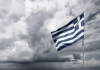 Greek flag, storm