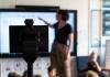 Robot in classroom