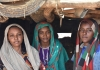 Three young women in Merowe, Sudan