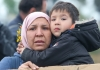 Asylum seeker mother and child