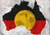 Australia shaped Aboriginal flag