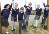 School children in playground