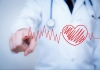 Doctor with stethoscope round their neck in background with artwork of heart monitor graph superimposed