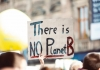 Protest sign reading 'There is no Planet B'