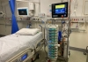 The ICU equipment tower in the Intensive Care Unit