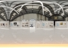 Virtual interior architecture exhibit in warehouse