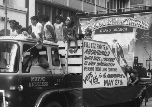 Campaigners for Indigenous rights ahead of the 1967 referendum. Picture: Fryer Library, University of Queensland