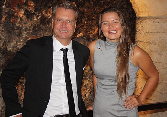 Australian Law Council President Morry Bailes with UNSW Law student Vanessa Turnbull-Roberts. Photo: Supplied