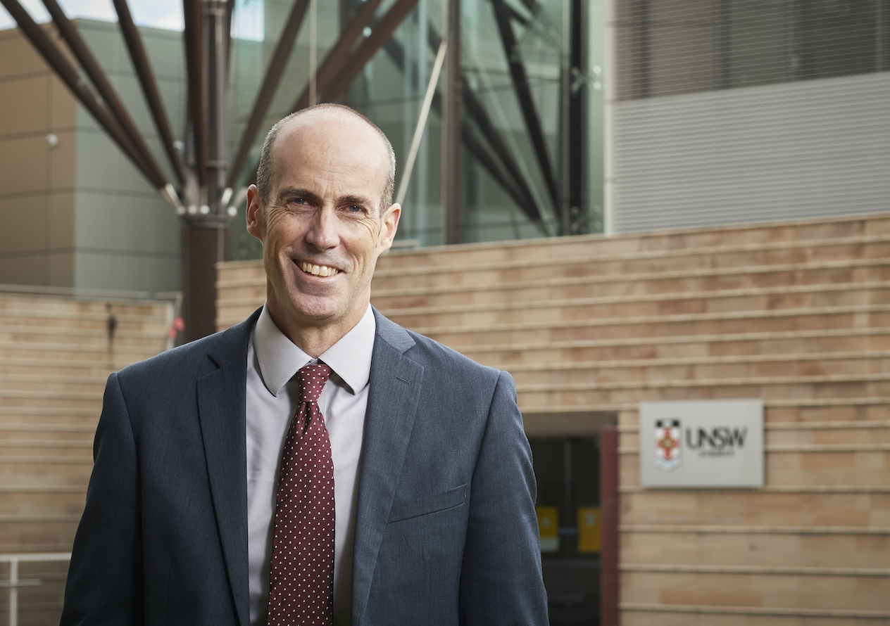 Professor Andrew Lynch, the new Dean of UNSW Law & Justice, is an alumnus and has been Acting Dean since July 2020. Photo: Richard Freeman, UNSW.