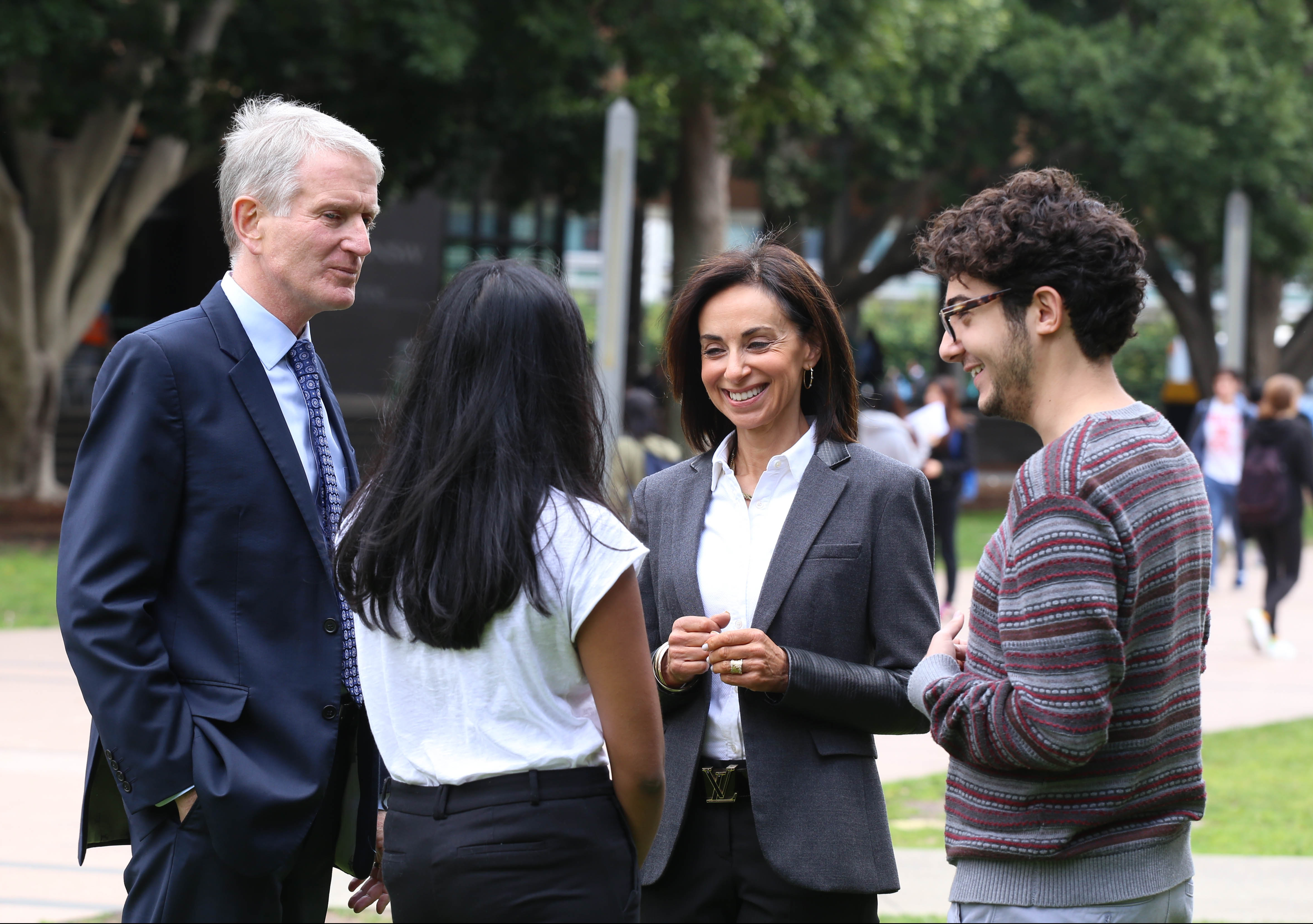A collaborative approach ... Careers Services Manager Joanne Glanz and Dean David Dixon with students